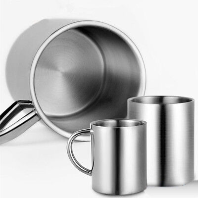 Stainless Steel Mug Cup Double Wall Portable Travel Tumbler Coffee Tea Cups