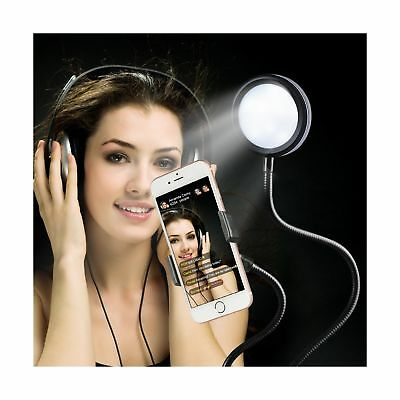 AU Light Selfie Ring with Cell Phone Holder Stand for Live Stream Makeup Bracket