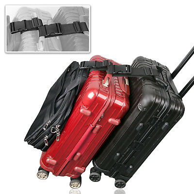 15cm Add A Bag Strap Travel Luggage Suitcase Adjustable Belt Carry On Bungee New
