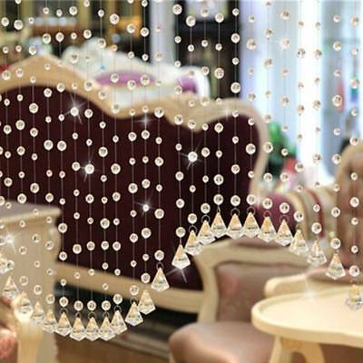 Crystal Glass Bead Curtain Luxury Living Room Bedroom Window Door Bathroom Decor
