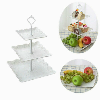 2018 3 Tier Cake Stand Afternoon Tea Wedding Plates Party Embossed Tableware AU