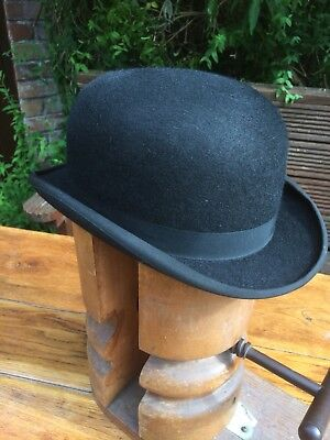 Vintage Bowler Hat size 60 or 7 3/8. Woodrow Picadilly London 'Burlington' 1970'