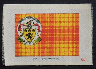 MACMILLAN Clan Tartan and Coat of Arms SILK card issued in 1922