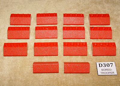 1966 100/% 14 pc ROOF LEGO Sets Supplemental 480-4 Slopes /& Double 2 x 4 Red