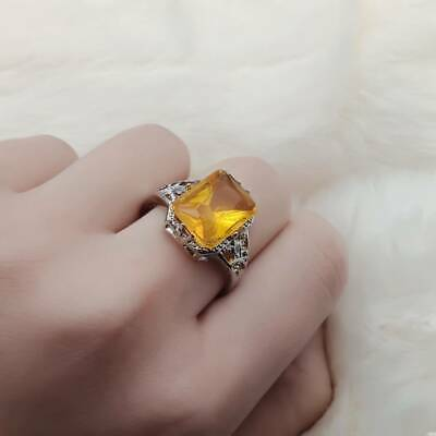 Retro Classical Zirconia Crystal Ring Jewelry Women Christmas Gift Size 6-10 1PC