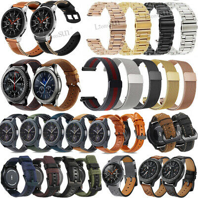 18/20mm Stainless Steel Leather Watch Wrist Band Straps For Daniel Wellington DW