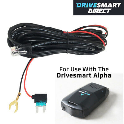 Official Drivesmart  Alpha Speed Camera Detector RJ-9 Hardwire Hard Wire Kit