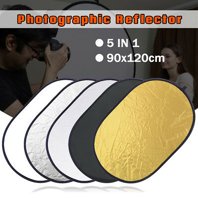 Photography 5 in 1 Light Collapsible Photo Reflector Diffuser Panel 90x120cm