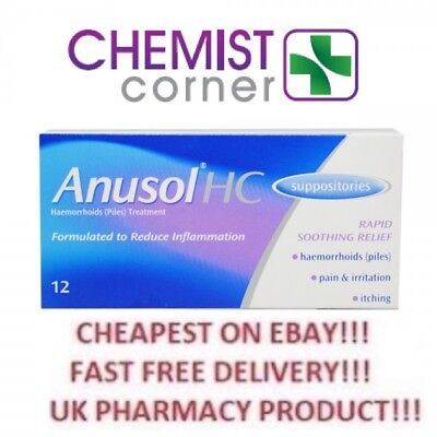 ANUSOL HC SUPPOSITORIES 12s -⭐️SPECIAL OFFER⭐️