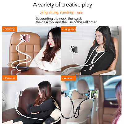 Lazy Hanging Neck Cell Phone Mount Holder Universal Mobile Phone Stand Bracket**