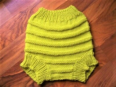 Hand Knitted Wool Cloth Diaper Cover baby nappy cover size Small NB- 6 Months