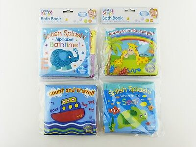 Soft Baby Bath Book Fun Educational Toy 6 Months+ Waterproof Plastic Coated