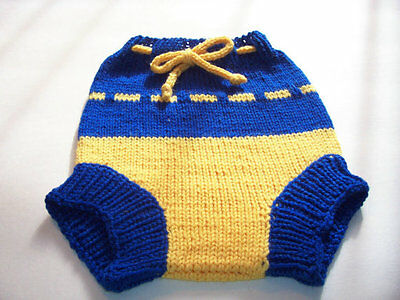 Hand Knitted Handmade Wool Cloth Diaper Cover baby cover size Large 12-18 Months