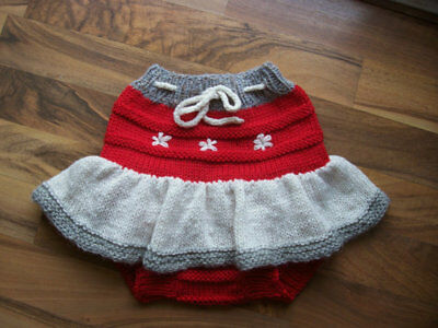 Diaper Cover Hand Knit Handmade Baby Wool Diaper Cover-Skirt size Large