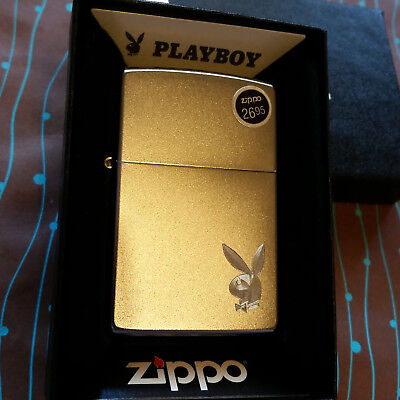 Zippo 29603 Playboy Bunny Logo Satin Chrome 2018 Release NEW Windproof Lighter