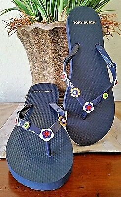 24c405680113 TORY BURCH MARGUERITE 2 Flip Flop Perfect Navy Size 8 New -  58.00 ...