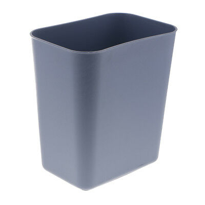 Square Trash Can Wastebasket Garbage Container Bathroom Plastic 8L Gray New