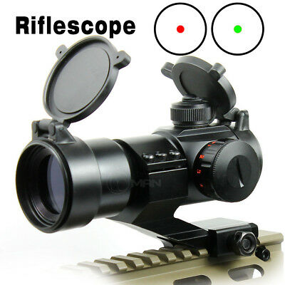 Tactical Holographic Reflex 4 MOA Red&Green Dot Sight Scope Rail 20mm Mount New