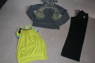 Lot of Lululemon Classic Pants, Rare Hoodie and No Limit Tank Top sz 6