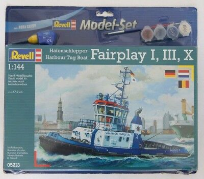 Revell 05213 Model-Set 65213 Harbour Tug Boat Fairplay I, III, X,  NEU