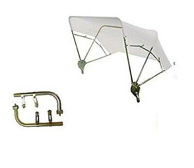 """Case IH & Ford Tractor Umbrella Buggy Top 3 Bow 48"""" White w/ Fender Mounts"""