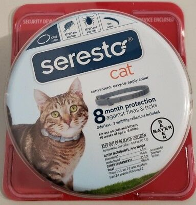 Bayer Seresto Flea and Tick Collar for Cat, 8 Month Protection MADE IN USA