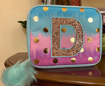 Letter O Justice School Backpack Dot Ombre Foil Initial
