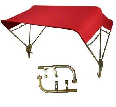 """International Tractor Umbrella Buggy Top 3 Bow 48"""" Red Complete w/ Fender Mounts"""