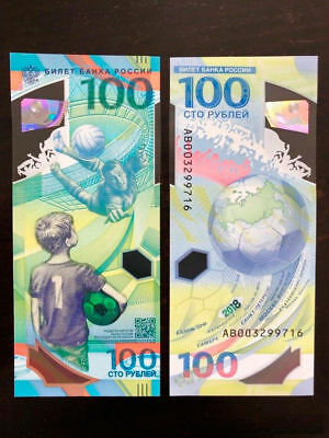 Set 5 PCS, Russia 100 Rubles, FIFA World Cup 2018, track number delivery!
