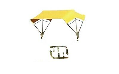 """Tractor and Mower Umbrella Buggy Top 3 Bow 40"""" Complete Yellow Cover"""