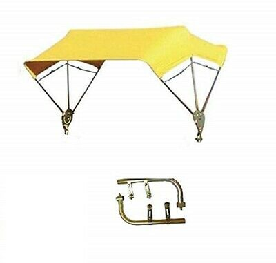 """Tractor & Mower Umbrella Buggy Top 3 Bow 48"""" Complete Yellow"""