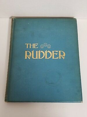 Antique Bound The Rudder Magazine Boat Yacht Sailing 1912 XXVI July - December