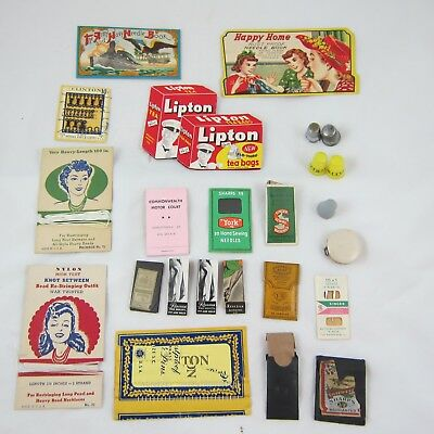 Lot of Vintage Needle Books Army Navy, Lipton, RealSilk, Happy Home & More