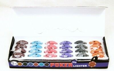 Resale Opportunity Box of 24 Poker Chip Lighters