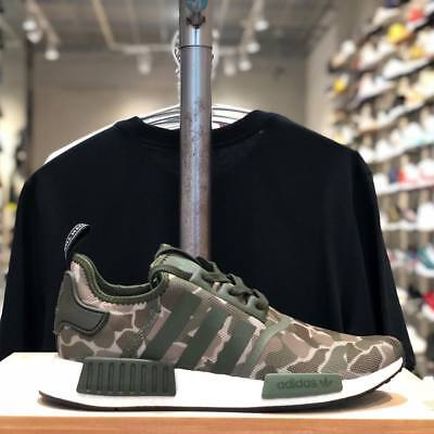 hot sale online aa6eb 3dd3c Adidas NMD R1 Original Runner Duck Camo Sesame Cargo New Men Shoes 4-13 (