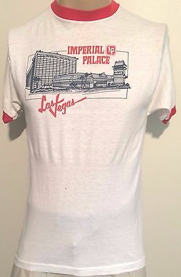 TRUE VTG 1970's IMPERIAL PALACE AUTO COLLECTION LAS VEGAS 2-SIDED T-SHIRT SM-MED