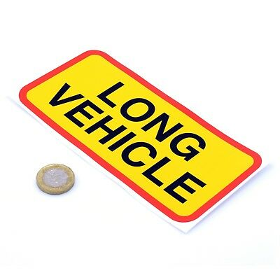 Long Vehicle Warning Sticker Truck Car Bumper SUV Laptop Safety Vinyl Decal