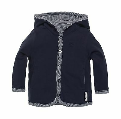 Noppies Baby-Boys B Jersey Rev Joke Cardigan Blue (Navy)
