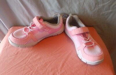 Carters Girls  Pink  Athletic Tennis Shoes Slip On Closure Size 2 Youth New