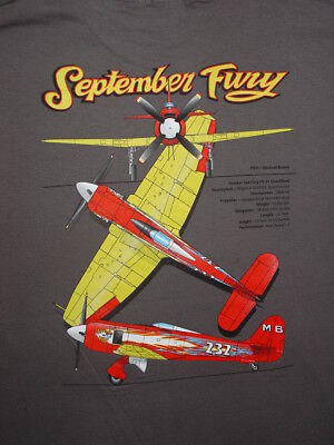 "Hawker Sea Fury ""September Fury"" Reno Air Racer t-shirt. Sizes S,L,XL,XXL,XXXL."