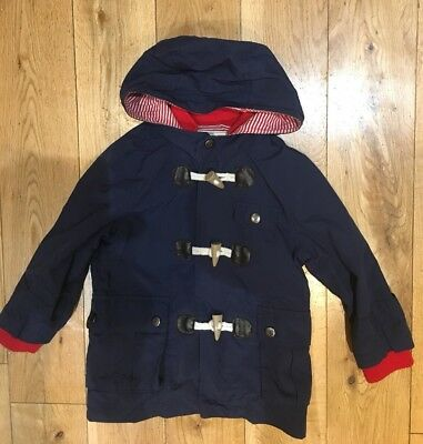 Boys Monsoon summer blue red lightweight jacket coat size 3-4 years