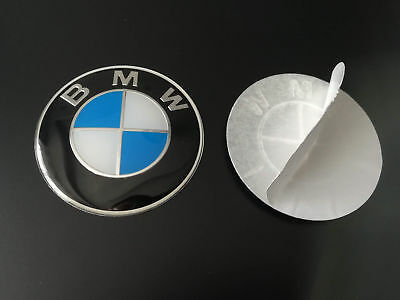 2x BMW 65mm logo autocollant Embleme badge Centre roue jante E90 E60 F10 E81 64