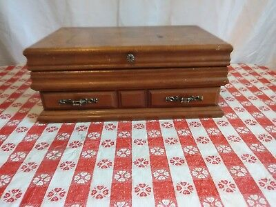 Vintage Wooden Jewelry Box with drawer   (10)