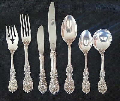 STERLING SILVER FLATWARE SET of 85 BY REED & BARTON FRANCIS 1ST
