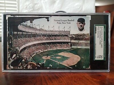 1910's Polo Grounds John McGraw Postcard SGC Graded New York Giants Baseball