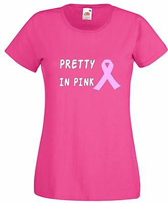 Pretty In Pink T Shirt with Breast Cancer Ribbon Wear It Pink Friday Muddy Race