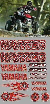 Warrior Decals yamaha RED Plasma Flame Full Color Stickers Graphics 14pc ATV