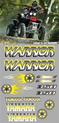 Warrior yamaha Decals YELLOW Airbrush Style Stickers Graphics 14pc ATV QUAD