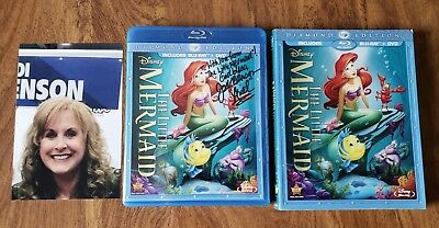 Signed Jodi Benson The Little Mermaid (Blu-ray/DVD 2-Disc Diamond Edition) w/pic