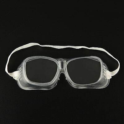 WK Eye Protection Protective Lab Anti Fog Clear Goggles Glasses Vented Safety ^^